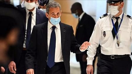 L'ancien président français Nicolas Sarkozy, le 1er mars 2021. AFP - ANNE-CHRISTINE POUJOULAT