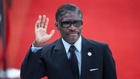 Teodorin Obiang, vice-président de Guinée équatoriale, en mai 2019. © Michele Spatari / AFP