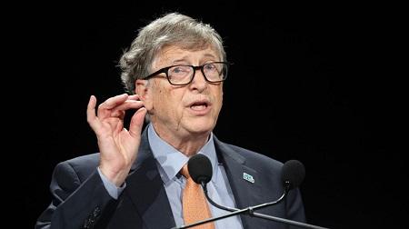 Bill Gates lors d'une conférence à Lyon, le 10 octobre 2019 (image d'illustration)  © Ludovic MARIN