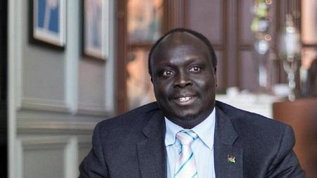 Le ministre sud-soudanais du Pétrole, Awou Daniel Chuang