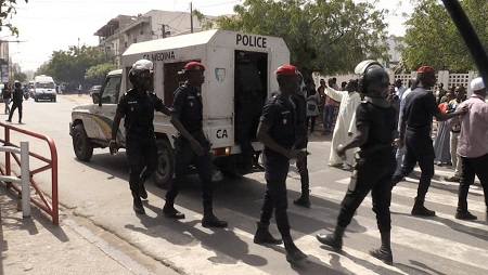 Une vingtaine de personnes ont été interpellées d'après une source policière. © RFI/William de Lesseux