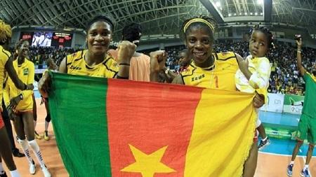 Les Lionnes indomptables de volleyball, championnes d'Afrique en titre