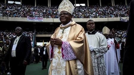 L'archevêque de Kinshasa, Mgr Fridolin Ambongo, le 25 novembre 2018. John WESSELS / AFP