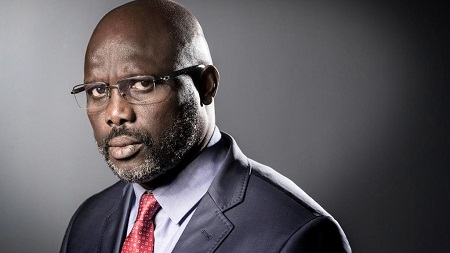 George Weah, né le 1er octobre 1966 à Monrovia, président du Liberia, issu du groupe ethnique krou.