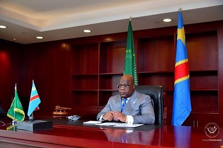 Félix Tshisekedi, président de la RDC et nouveau président de la Union africaine (UA)
