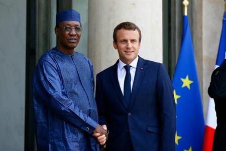 Idriss Déby Itno et Emmanuel Macron
