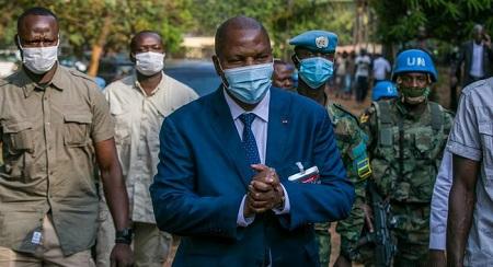 Faustin Archange Touadéra,  63 ans, président de la Centrafrique