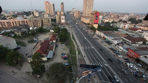 Une vue du centre-ville de Kinshasa, la capitale congolaise. © Wikimedia/CC