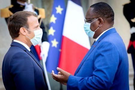 Emmanuel Macron et  Macky Sall