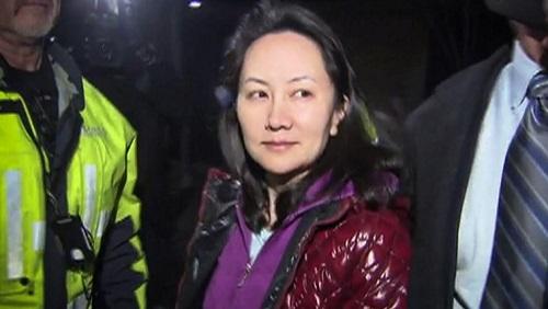 Meng Wanzhou, la directrice financière du géant des télécoms Huawei, le 11 décembre 2018 à Vancouver CTV/AFP