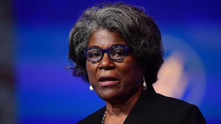 La nouvelle ambassadrice américaine à l'ONU, Linda Thomas-Greenfield, Afro-Américaine de 68 ans et diplomate de carrière
