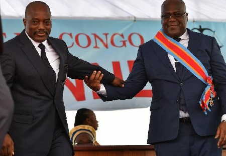 Félix Tshisekedi et son prédécesseur Joseph Kabila
