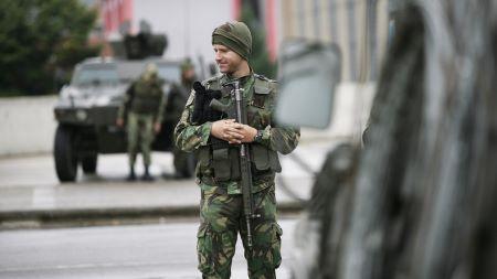 Soldat portugais de la KFOR à Mitrovica au Kosovo en 2011 (image d'illustration).© Hazir Reka Source: Reuters