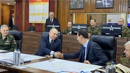 Le Président russe est arrivé à Damas où il s'est entretenu avec son homologue syrien Bachar el-Assad