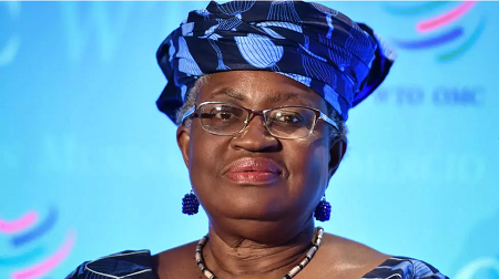 La candidate nigériane à la présidence de l'OMS, Ngozi Okonjo-Iweala le 15 juillet 2020 à Genève. AFP Photos/Fafbrice Coffrini