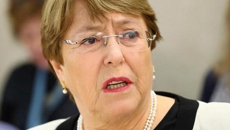 La Haute-commissaire aux droits de l'homme de l'ONU, Michelle Bachelet. © REUTERS/Denis Balibouse