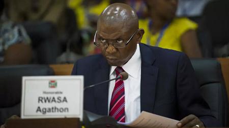 Le principal opposant au pouvoir burundais Agathon Rwasa. AFP PHOTO / PHIL MOORE