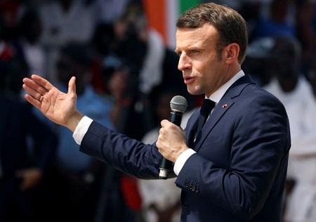 Emmanuel Macron, ici à Abidjan en Côte d'Ivoire le 21 décembre 2019. UC GNAGO / REUTERS
