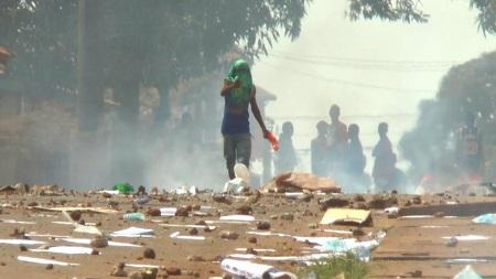 La journée du 22 mars 2020 a été marquée par des heurts en Guinée à l'occasion du double scrutin. RFI/Carol Valade