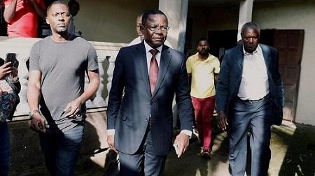 Maurice Kamto, président du Mouvement pour la renaissance du Cameroun (MRC)