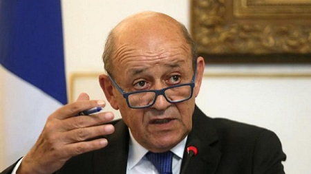 Le ministre français des Affaires étrangères, Jean-Yves Le Drian