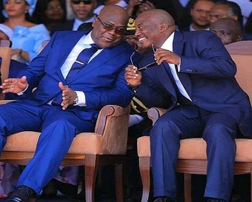 Le nouveau président de la République démocratique du Congo Félix Tshisekedi et son prédécesseur Joseph Kabila