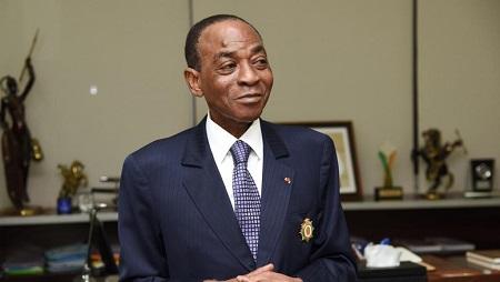 Charles Diby Koffi le 3 avril 2019 à Abidjan. © ISSOUF SANOGO / AFP