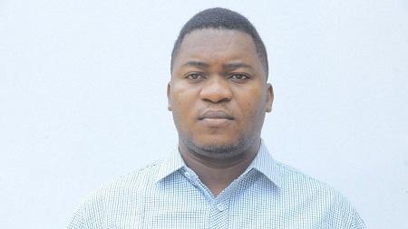 Le journaliste Gaël Mpoyo, correspondant d'Africanews en RDC
