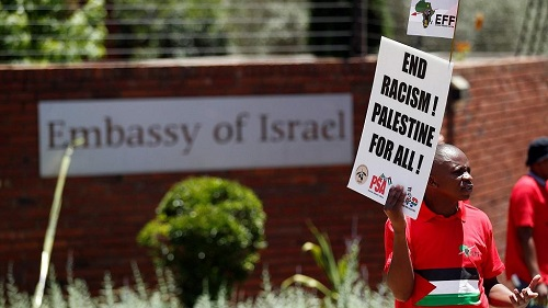 L'Afrique du sud a abaissé le niveau de sa représentation diplomatique à Tel Aviv