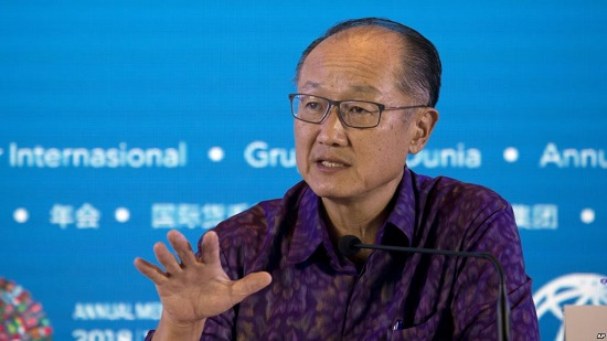 Le président de la Banque mondiale, Jim Yong Kim, à Bali, en Indonésie, le 11 octobre 2018.