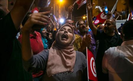 Manifestation tunisienne . AP / Riadh Dridi 2019 ©Tunisie