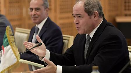 Le ministre des affaires étrangères algérien Sabri Boukadoum, le 13 juillet 2020. AFP Photo/FETHI BELAID