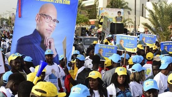 Des partisans de Karim Wade, à Dakar, le 29 novembre 2018. © SEYLLOU / AFP