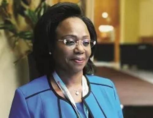 Judith Yah Sunday, directrice générale de Camtel, l'opérateur historique des télécoms du Cameroun
