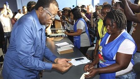 Le président namibien, Hage Geingob