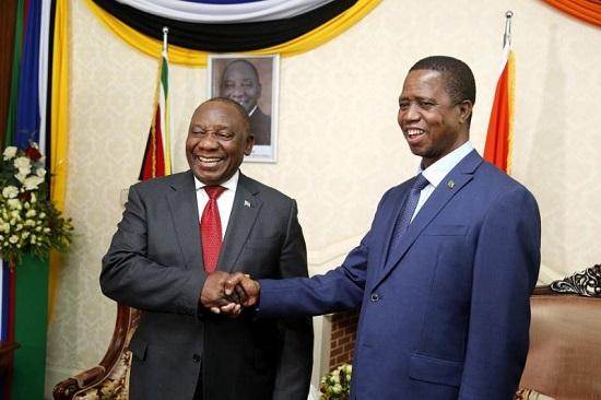 Le président Sud-Africain Cyril Ramaphosa et son homologue Zambien Edgar Lungu ont discuté ce mardi de la situation en RDC