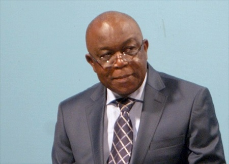 Le ministre des Mines et de la Géologie, Léopold Mboli Fatrane