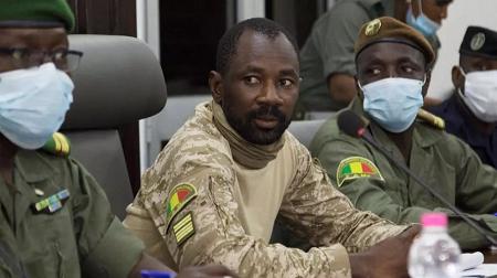 Le leader de la junte malienne, le colonel Assimi Goïta. ANNIE RISEMBERG AFP/File