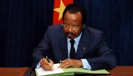 Le Président de la République Paul Biya