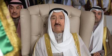 L'émir du Koweit, Sheikh Sabah al-Ahmad al-Sabah, le 31 mars 2019. © Fethi Belaid