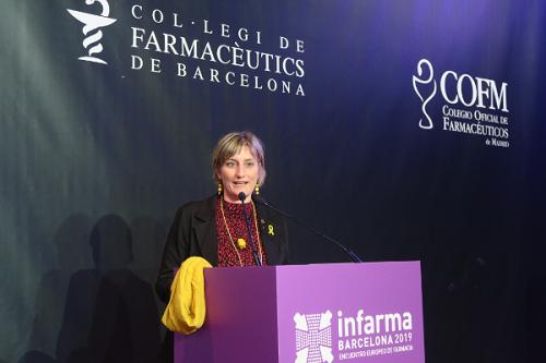 Alba Vergés, ministre de la Santé du département de la santé de la Generalitat de Catalogne