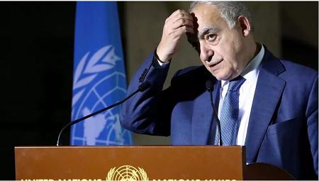 L'ancien envoyé spécial de l'ONU pour la Libye, Ghassan Salamé, à Genève le 6 février 2020. REUTERS/Denis Balibouse