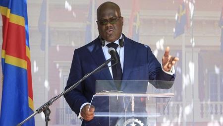 Félix Tshisékédi, président de la République démocratique du Congo. © STRINGER / AFP