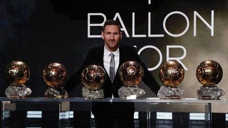 L'Argentin Lionel Messi a remporté le sixième Ballon d'Or de sa riche carrière, lundi lors d'une cérémonie à Paris