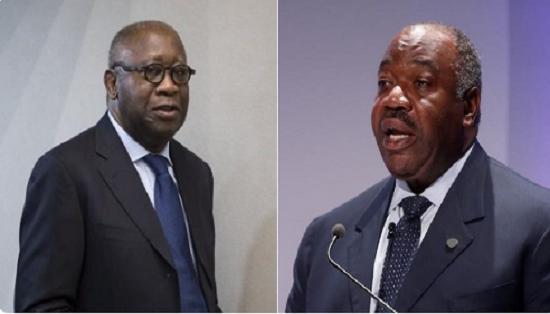 Laurent Gbagbo, ancien président ivoirien et le président Gabonais Ali Bongo | Photo montage: A24M