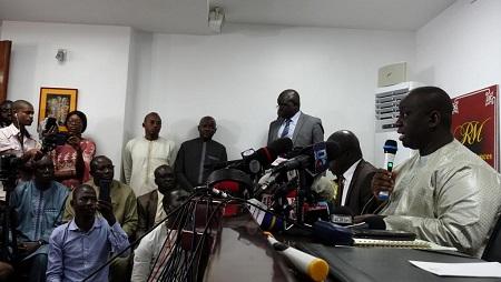 Aliou Sall a vigoureusement réfuté les accusations de corruption portées contre lui par la BBC, lors d'une conférence de presse, le 3 juin 2019. © Guillaume Thibault/RFI