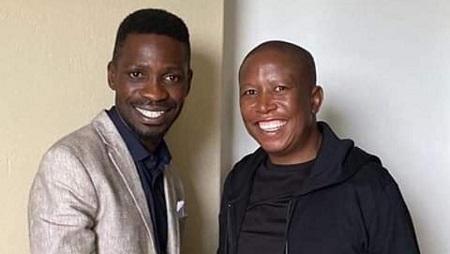 Bobi Wine et Julius Malema lors de leur rencontre en Afrique du Sud. © PHOTO/Courtesy