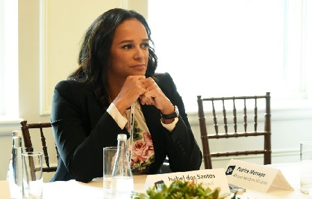 Isabel Dos Santos, la femme la plus riche d'Afrique et par ailleurs fille de l'ancien président José Eduardo Dos Santos