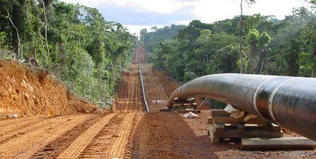 Construction d'une pipeline. Illustration