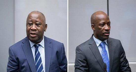 Laurent Gbagbo et Charles Blé Goudé lors de l'audience du 15 janvier 2019 devant la Cour pénale internationale à La Haye, Pays-Bas ©ICC-CPI